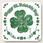 Happy St. Patrick's Day - vintage style Drink Coaster