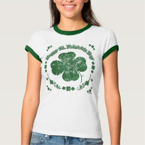 Happy St Patrick 39 S Day Vintage Style Tee Shirt Zazzle