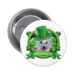 Happy St Patricks Day Westie 2 Inch Round Button