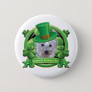 Happy St Patricks Day Westie Pinback Button