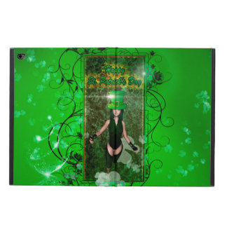 Happy St. Patrick's day with cute girl and flowers Powis iPad Air 2 Case