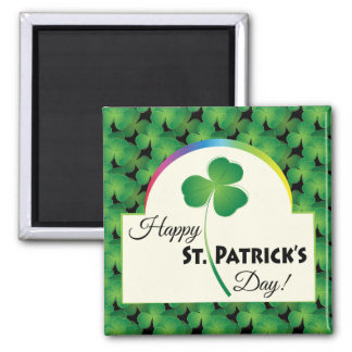 Happy St. Patrick's Day with shamrock Magnet