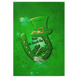 Happy St. Patrick's Day with Wood Poster