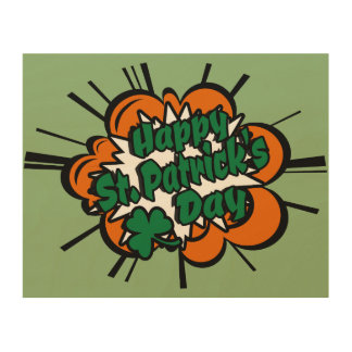 Happy St. Patrick's Day Wood Wall Art