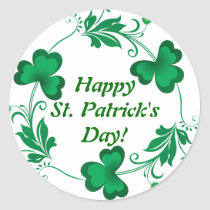 Happy St. Patrick's Day! Wrist Classic Round Sticker