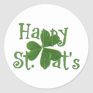 Happy St. Pat's Classic Round Sticker