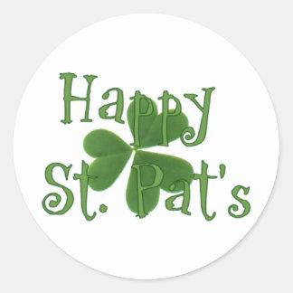 Happy St. Pat's Round Sticker