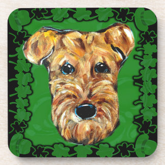 HAPPY ST. PATTY AIREDALE COASTERS
