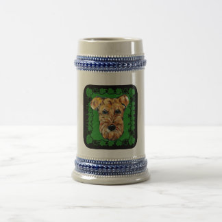 HAPPY ST. PATTY AIREDALE 18 OZ BEER STEIN