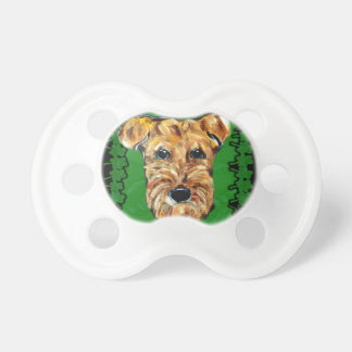 HAPPY ST. PATTY AIREDALE PACIFIER