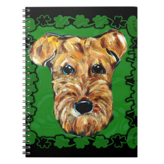 HAPPY ST. PATTY AIREDALE SPIRAL NOTEBOOK