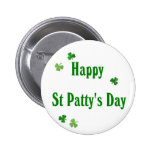 Happy St Patty's Day 2 Inch Round Button