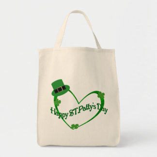 Happy ST Pattys Day Grocery Tote Bag