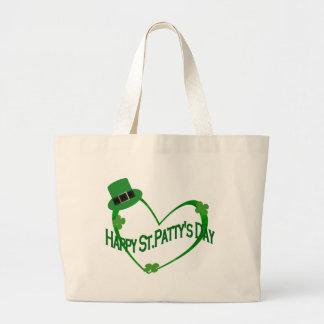 Happy ST Pattys Day Jumbo Tote Bag