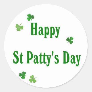 Happy St Patty's Day Classic Round Sticker