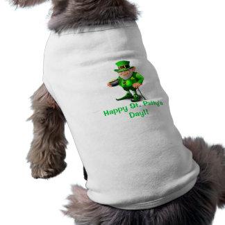 Happy St Patty's Day Dog  Shirt Pet Tee Shirt