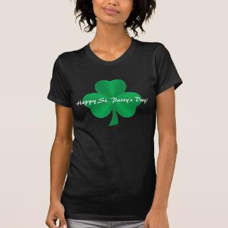 Happy St. Patty's Day! Green Satin Shamrock Shirt