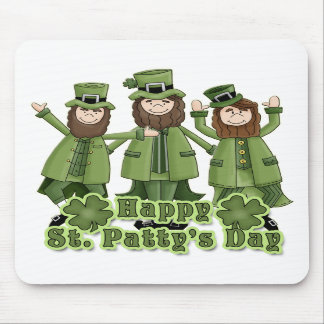 Happy St Patty's Day Leprechauns Mouse Pad