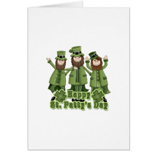 Happy St Patty's Day Leprechauns Stationery Note Card