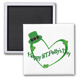 Happy ST Pattys Day 2 Inch Square Magnet