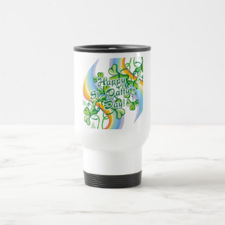 Happy St. Patty's Day 15 Oz Stainless Steel Travel Mug