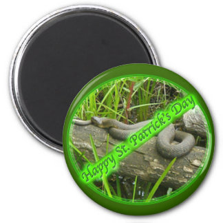 Happy St. Patty's Day No Snakes Magnet