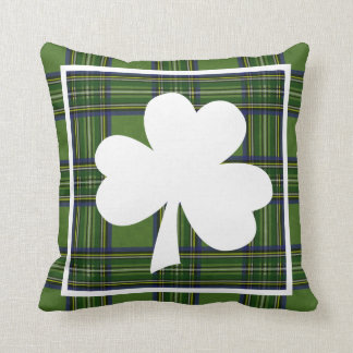 Happy St. Patty's Day Plaid Throw Pillow