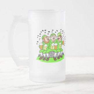 Happy St Patty's Day & Singing Leprechauns Stein Coffee Mugs