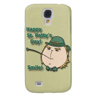 Happy St. Patty's Day Smile Green Leprechaun Samsung Galaxy S4 Case