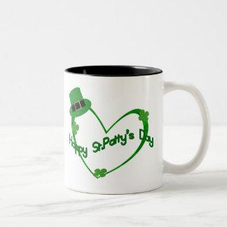 Happy ST Pattys Day Two-Tone Coffee Mug