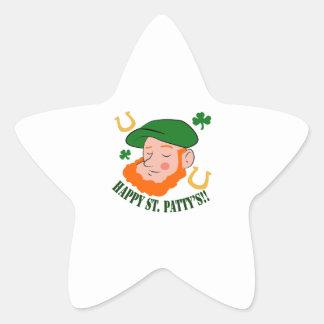 Happy St. Pattys Star Sticker