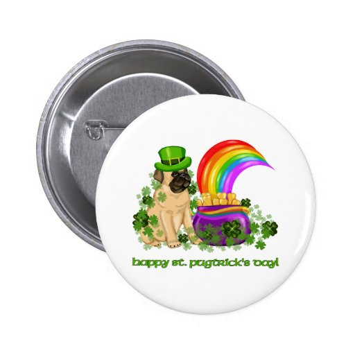 Happy St. Pugtrick's Day Tees and Gifts 2 Inch Round Button