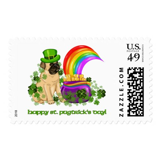 Happy St. Pugtrick's Day Tees and Gifts Stamps