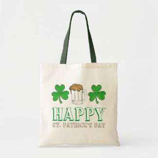 Happy St. Saint Patrick's Day Shamrock Beer Tote