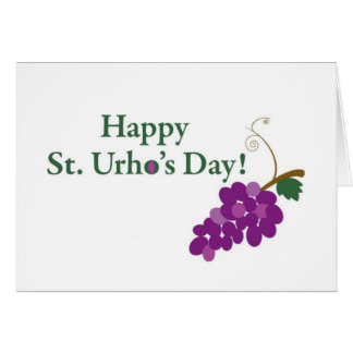 Happy St. Urho's Day! with Grapes Greeting Card