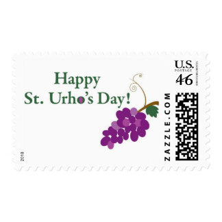 Happy St. Urho's Day! with Grapes Stamp