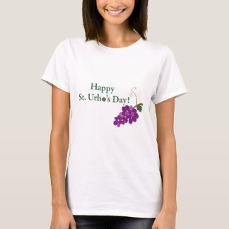 Happy St. Urho's Day! with Grapes T-Shirt
