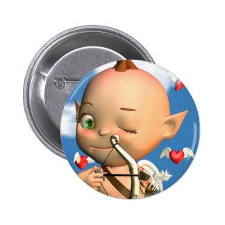 Happy St. Valentine's Day Cupid Button