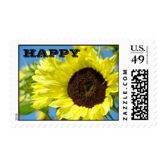 HAPPY stamps Yellow Sunflowers postage Cards