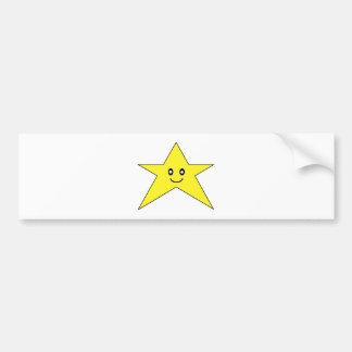 Happy Star Car Bumper Sticker