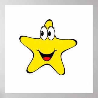 Happy Star Cartoon Posters