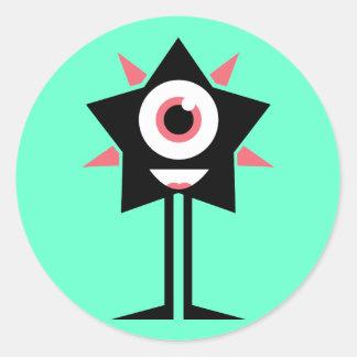 Happy Star Classic Round Sticker