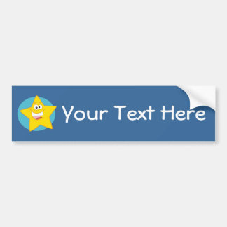 Happy Star (Customizable) Bumper Sticker