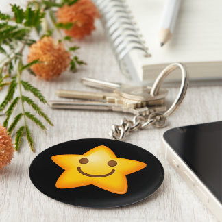 Happy Star Emoji Keychain