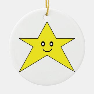 Happy Star Ornament
