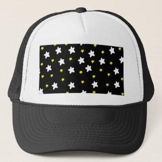 Happy Stars Black Trucker Hat