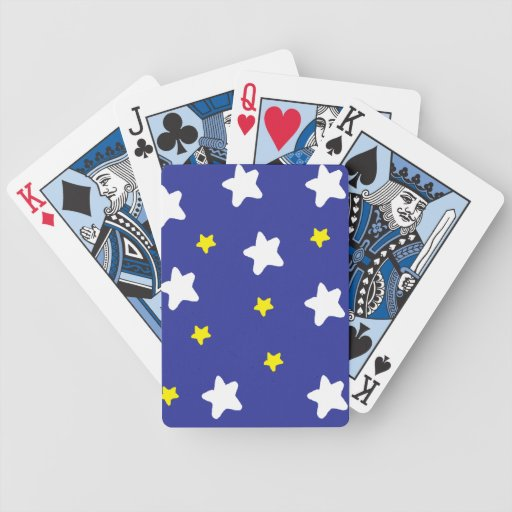 Happy Stars Blue Bicycle Playing Cards