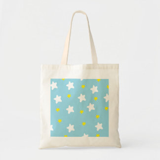 Happy Stars Blue Budget Tote Bag