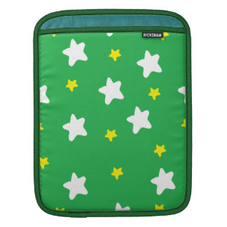 Happy Stars Green Sleeves For iPads