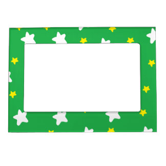 Happy Stars Green Magnetic Photo Frames
